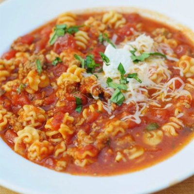 crack of the week :: lasagna soup