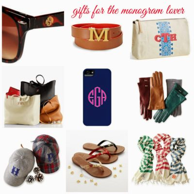 gift guide :: 30+ ideas for the monogram lover