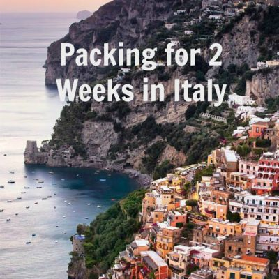 :: Italy Travel Diary: Packing for 2 Weeks in Italy ::