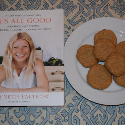 :: Gwyneth's Almond Butter Sea Salt Cookies ::