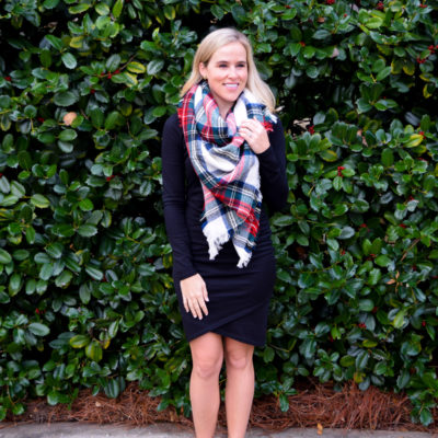:: Wrap Dress and Blanket Scarf ::