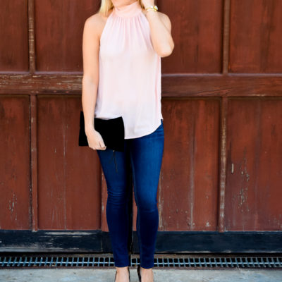 :: Tie Neck Top + Pink and Red Wish List Wednesday ::