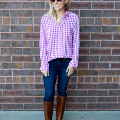 :: Pink Gingham Top + Pink Wishlist Wednesday ::