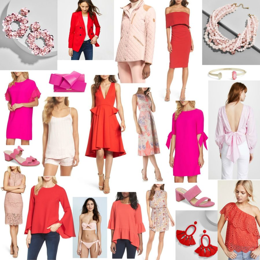 red and pink fashion : the sarcastic blonde